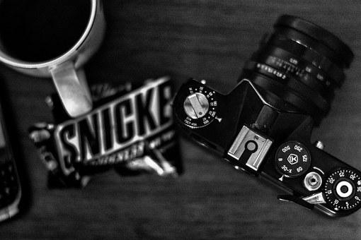 Snickers, Photo, Camera, Cup, Still Life, Style