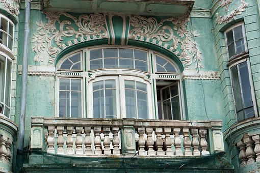 Varna, Window, Balcony, Kamienica, Sculpture