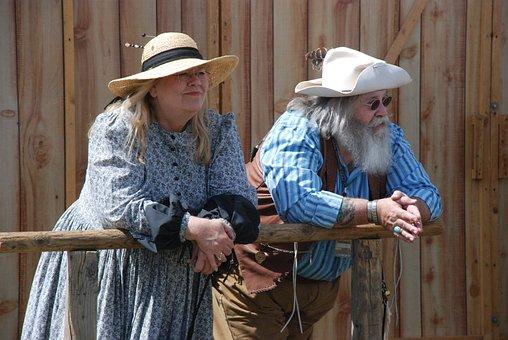 Western, Old-timer, History, Man, Woman, Beard, Fat