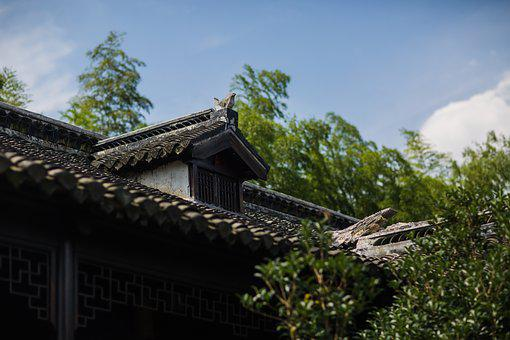 Biocountry, Resort, China, House, Wooden, Roof, Asian
