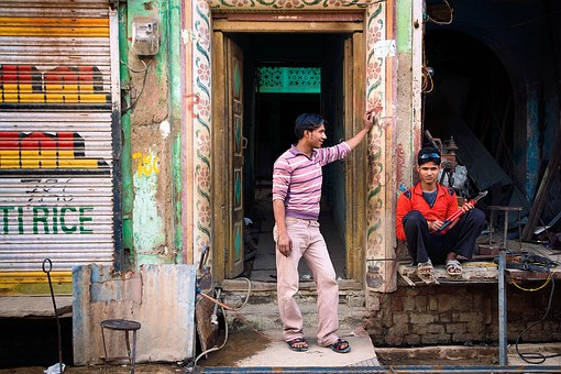 Life, Street, India, Travel, Asia, Service, Man, Young