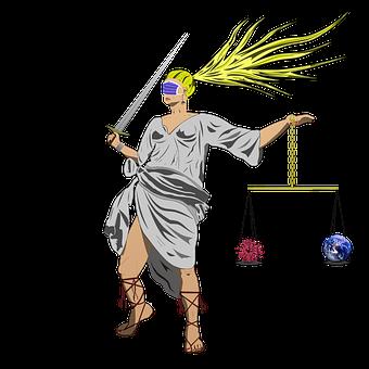 Covid19, Coronavirus, Justice, Pandemic, Greek Warrior
