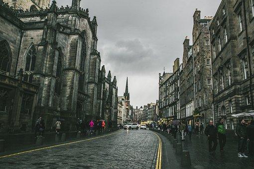 Royal Mile, High Street, Edinburgh, Old, Scotland