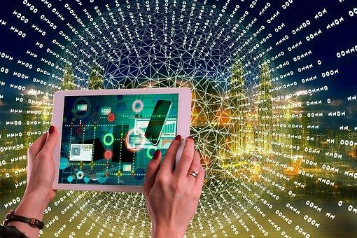 Internet, Social Media, Woman, Tablet, Hands, Network