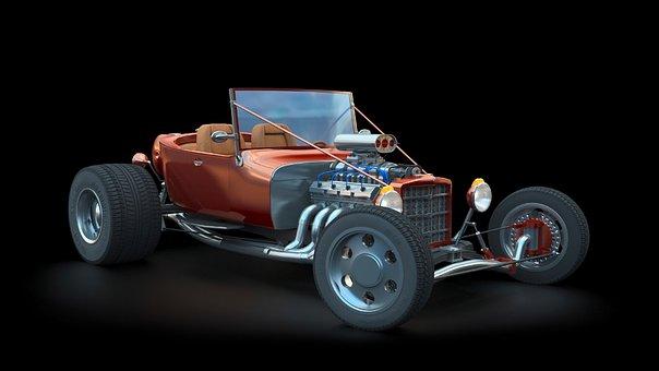 Hot Rod, 3Ds Max, Rendering, Cgi, Car
