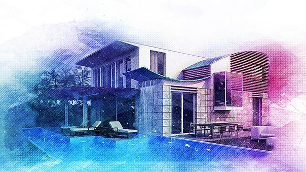 Architecture, Drawing, Crown Render, Cgi
