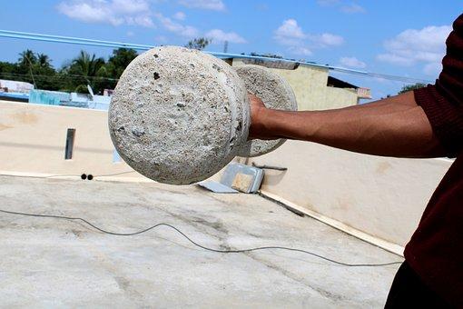 Village Gym Equipment, Cement Blocks, Sport