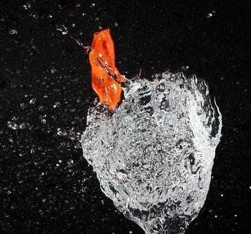 Water Bomb, Burst, Water Balloon, Fun, Wet, Inject