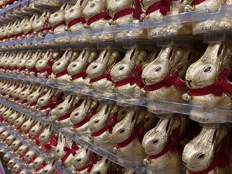 Easter Bunny, Easter, Chocolate Bunnies, Lindt