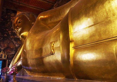 Reclining Buddha, Lying Buddha, Wat Pho, Temple