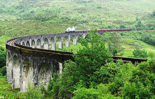 Viaduct, Train, Bridge, Railway, Traffic, Landscape