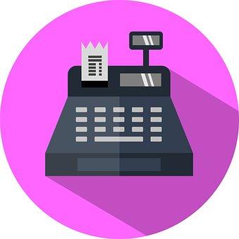 Register, Cashier, Icon, Checkout, Shopping, Shop