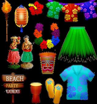 Luau, Hawaiian, Hibiscus, Island, Hula, Flower, Dancer