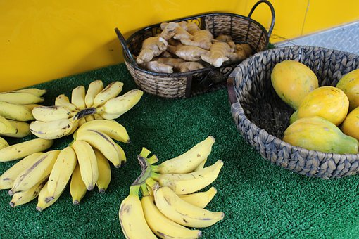 Fruit, Bananas, Food, Yellow, Nutrition