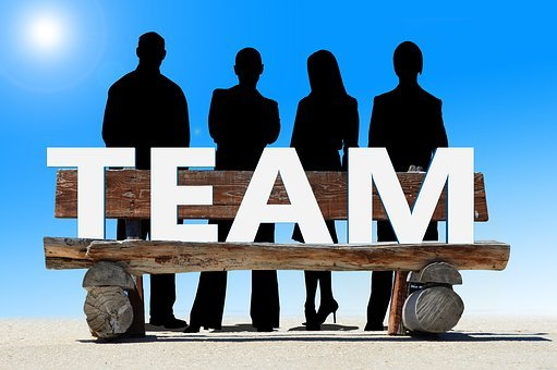Team, Bank, Wooden Bench, Meeting, Work, Group