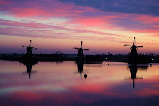Zaanse, Schans, Windmills, Zaandam, Zaandijk, Holland