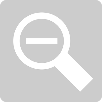 Minimize, Shrink, Zoom Out, Magnifying Glass, Loupe