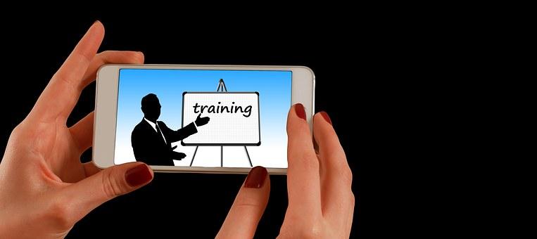 Smartphone, Hand, Training, Learn, School, Media