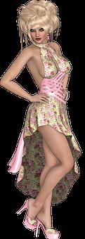 Woman, Pink, Girl, Spring, Fashion