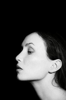 Female, Woman, Young, People, Makeup, Profile, Face, Of