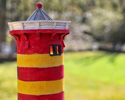 Lighthouse, Otto Lighthouse, Red, Yellow