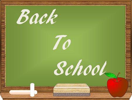 School, Chalkboard, Education, Blackboard, Back, Board