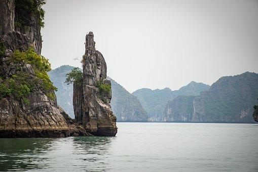 Lan Ha Bay, Halong, Vietnam, Sandstone, Island, Rock