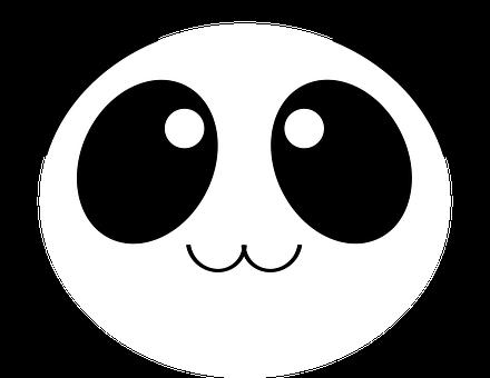 Panda, Bear, Cute, Adorable, Kawaii, Face, Round