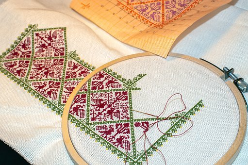 Embroidery, Needlework, Sewing, Ornament, Pattern