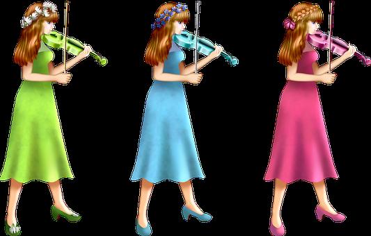 Music, Violin, Violinist, Women, Girls, Dress, Playing