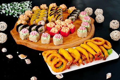 Food, Sushi, Seafood, Japanese