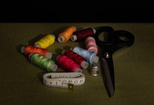 Threads, Still, Sew, Yarn, Life, Nature, Shadow, Decor