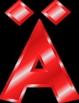 Alphabet, A, Ä, Umlaut, Mutated Vowel