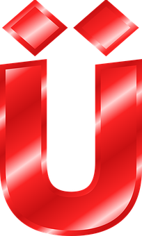 Alphabet, U, Ü, Umlaut, Mutated Vowel