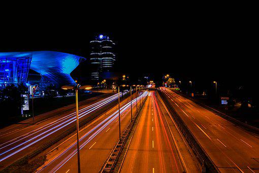 Munich, Night, Street, Bmw, Bavaria, Wallpaper, Germany