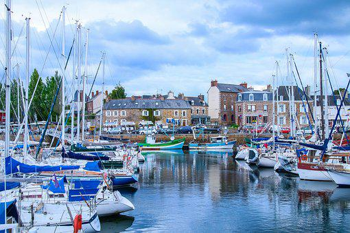 Landscape, Marin, Brittany, France, Port