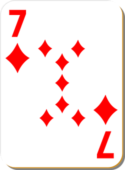 Playing Card, Seven, Diamonds, Game, Play, Luck, Casino