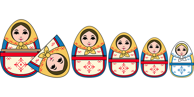 Graphic, Russian Dolls, Dolls, Nested, Russia, Russian