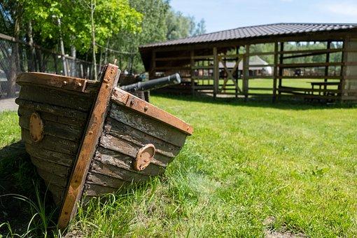 Boat, Vintage, Park, Grass, Summer, Garden, Green