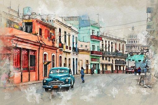 Cuba, Oldtimer, Havana, Old Car