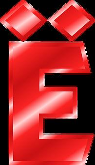 Alphabet, E, Umlaut, Mutated Vowel, Abc, Letter