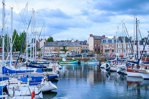 Landscape, Marin, Brittany, France, Port, Boats, Marina