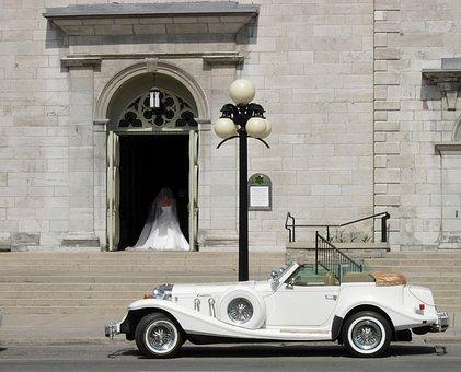 Wedding, Dress, Bride, Marriage, White, Romance, Couple