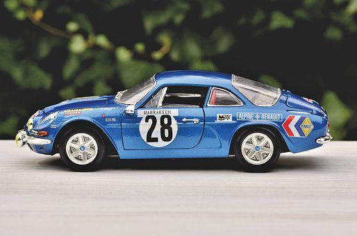 Model Car, Renault, Renault Alpine Model, Auto
