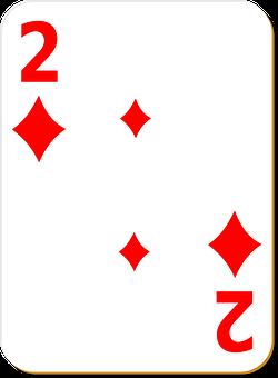 Playing Card, Two, Diamonds, Game, Play, Poker, Playing