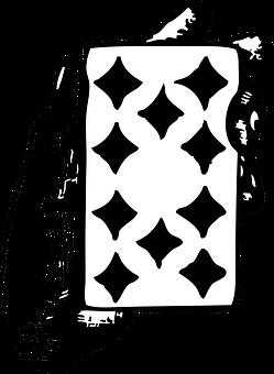 Card, Ten, Diamonds, Hand, Game, Poker, Casino, Gamble