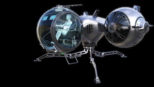 Raumschif, Science Fiction, Robogirl, Pilot, Fantasy