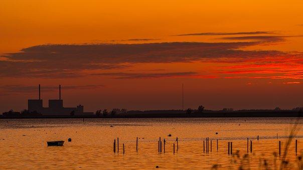 Sunset, Sea, Water, Nature, Coastal
