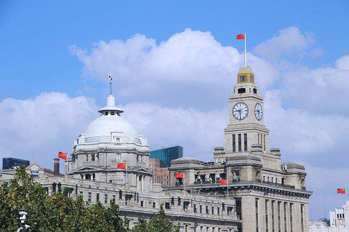 Building, Old Building, Sky, Cloud, The Bund, Shanghai