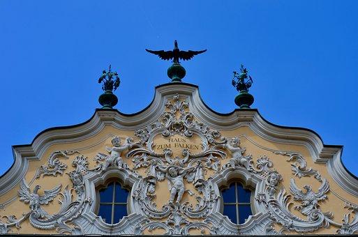 Falk House, Würzburg, Rococo, Facade
